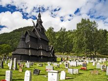Borgund - drevený stĺpový kostol