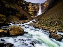 Hengifoss - jeden z najvyšších vodopádov Islandu