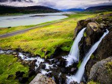 Krajina v okolí jazera Lagarfljór, východný Island