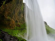Vodopád Seljalandfoss, južný Island