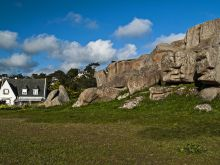 Oblé kamene na severnom pobreží Bretónska