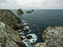Útesy západného pobrežia Bretónska