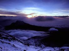 Východ slnka nad Mawenzi.